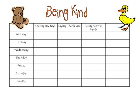 childrens reward charts printable free best loving printable