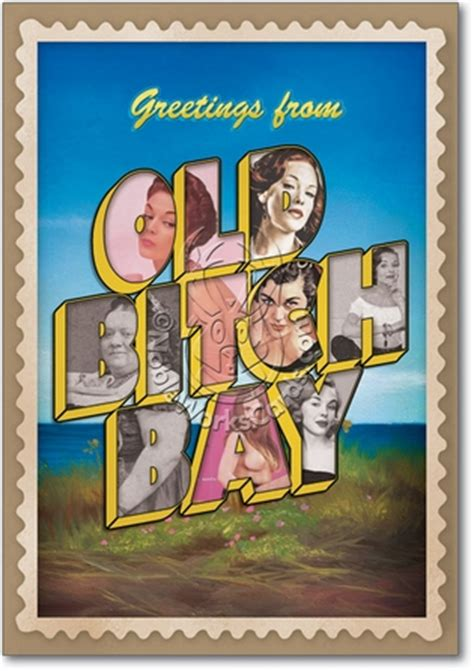 old bitch bay funny birthday card