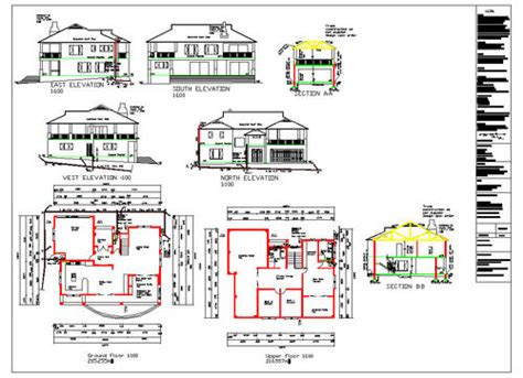 Building Plans 2x Double Storey House Plans For The Free Building Plans In Autocad Format