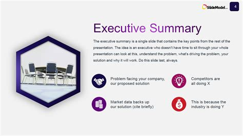 Business Case Studies Executive Summary Slide Design Executive Summary Slide Template