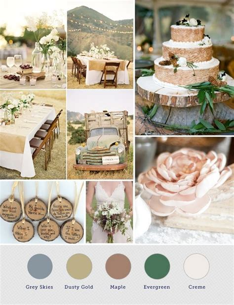 rustic color palette rustic wedding color palette rustic wedding ideas