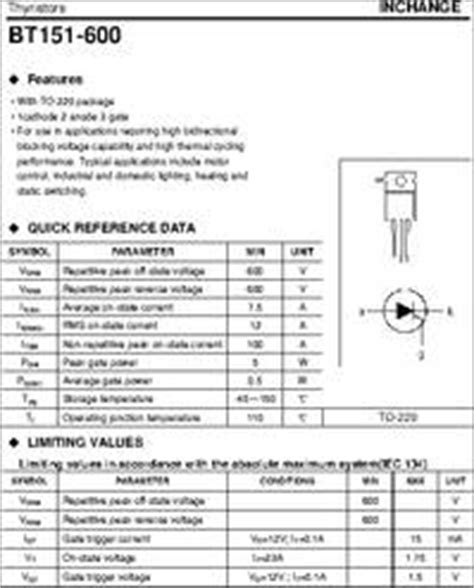 transistor d2012 datasheet bt151 500 datasheet thyristors