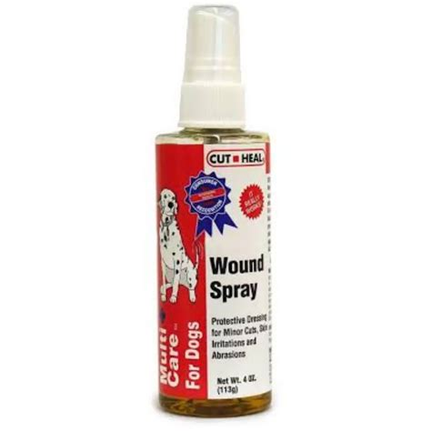 wound care for dogs multicare for dogs wound spray by cut heal 4 oz