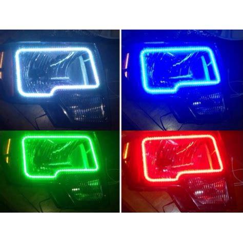 headlight color changer ford f150 v 3 fusion color change led halo headlight kit