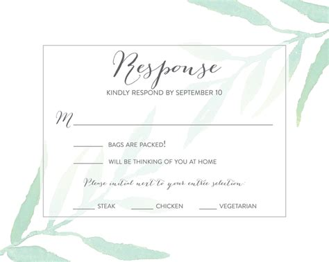 Formal Wedding Invite Response Card by Wedding Rsvp Wording Ideas
