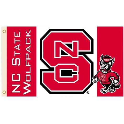 bsi products ncaa 3 ft x 5 ft nc state flag 95117 the home depot