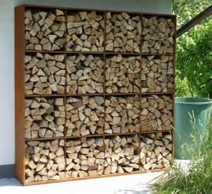 holzstapel regal brennholzlagerung zu hause stilvolle und originelle