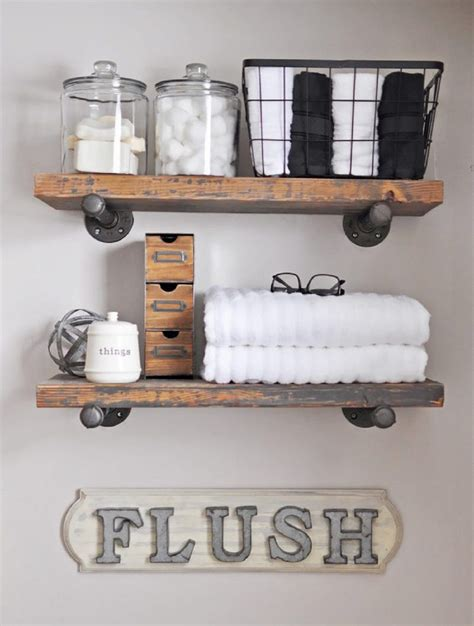 home decor guide how to make diy rustic over the toilet shelf my home