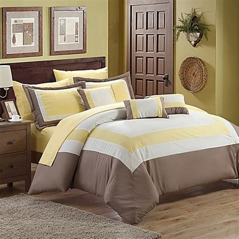 duke comforter chic home duke 10 piece comforter set in yellow bed bath