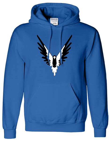 Hoodie Pullover Birdie By Maverick Logan bird logan paul hoodie maverick black and white hoodie sweater ebay
