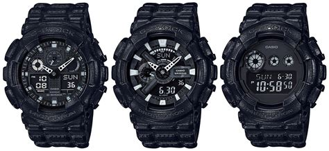 G Shock Series Black g shock black out leather texture series g central g