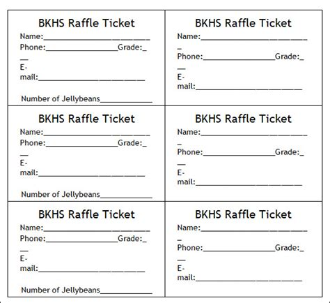 7 best images of make your own raffle tickets blank