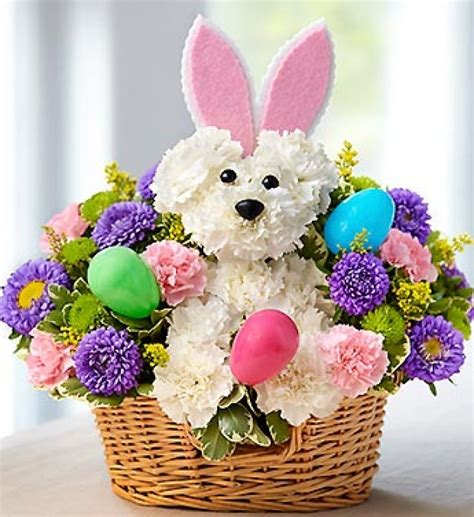 easter arrangements 1 800 flowers quot hoppy easter quot fresh flower arrangement
