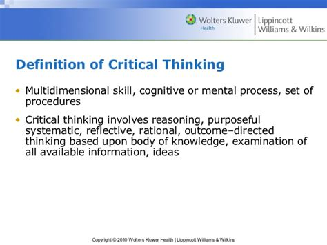 critical thinking skills practical strategies for better decision problem solving and goal setting books critical thinking of nursing process