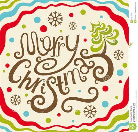 imagenes que digan merry christmas tarjeta de letras de la feliz navidad ilustraci 243 n del