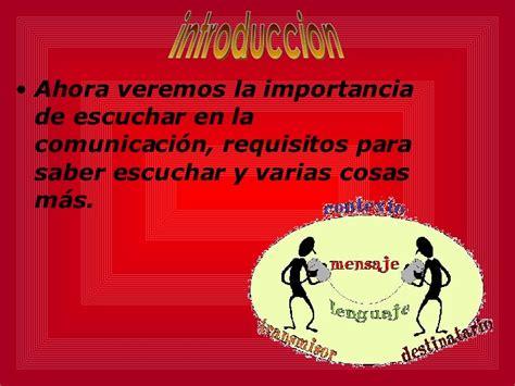 la importancia de escuchar inportamcia de escuchar en la comunicacion