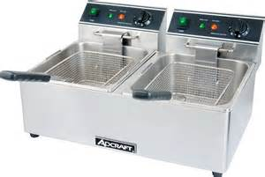Table Top Deep Fryer Adcraft Df 6l 2 Commercial Countertop Double Tank Deep