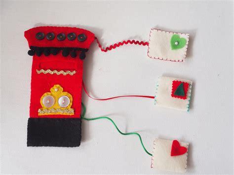 cassetta delle lettere inglese decorazione natalizia feltro cassetta della posta vintage