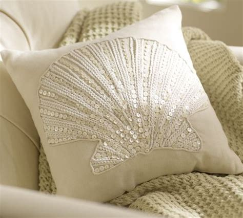 Beachy Decorative Pillows by Clamshell Pillow Traditional Decorative Pillows