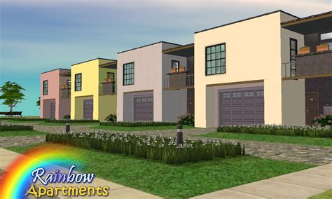 Rainbow Appartments mod the sims rainbow apartments