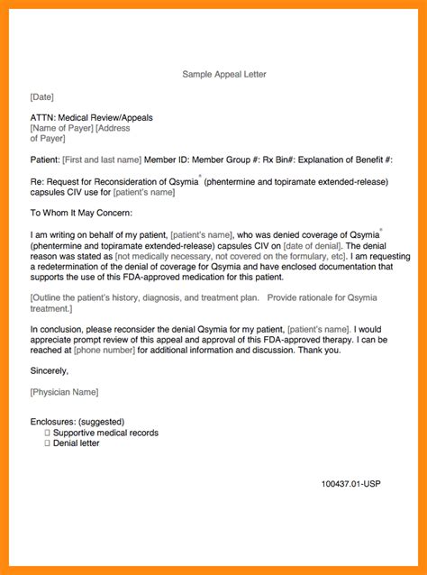 Appeals Coordinator Cover Letter by 9 Sle Appeal Letter For Claims Manager Resume