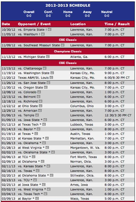 printable sporting kc schedule 2015 search results for printable ku men s basketball schedule