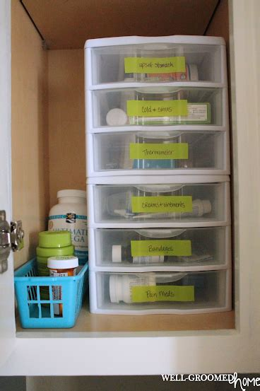 organize medicine cabinet organizing the medicine cabinet well groomed home