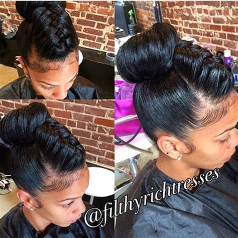 Hairstyle For Black With Relaxed Hair by Best 25 Relaxed Hairstyles Ideas On