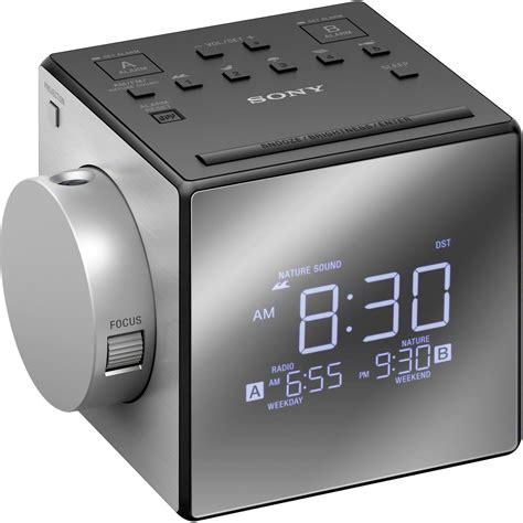 sony icf c1pj alarm clock radio with time projection icfc1pj b h