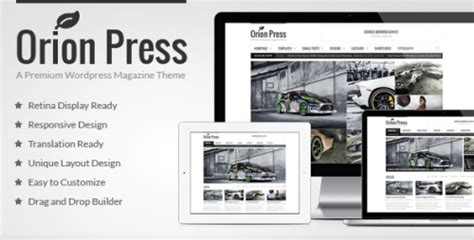 Muhidin Retina Ready Magazine Template Support 15 high quality width themes for designcoral