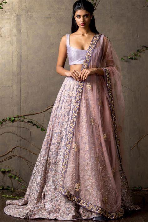 pink and lace indian wedding dress   Indian Weddings: Trousseau by Soma Sengupta