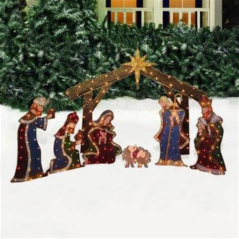 nativity scene lighted yard displays christmas wikii