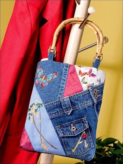 Denim Patchwork Bag Patterns Free - 311 best recycled blue jean crafts images on
