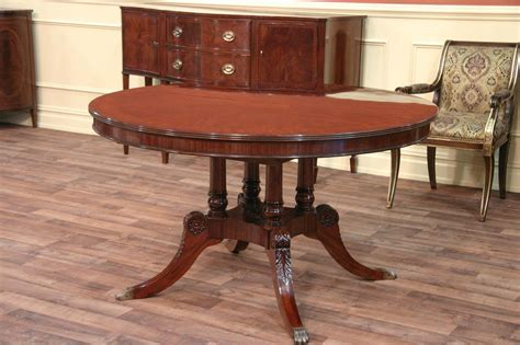 oval table with leaf 54 round to oval mahogany dining table with leaves ebay