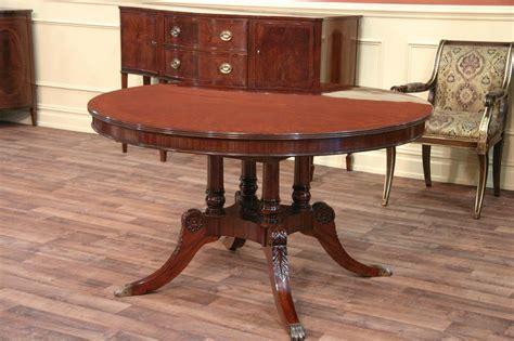 mahogany dining table 54 round to oval mahogany dining table with leaves ebay