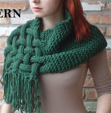 scarf pattern chunky yarn diane mathieson crochet ideas pinterest celtic knots