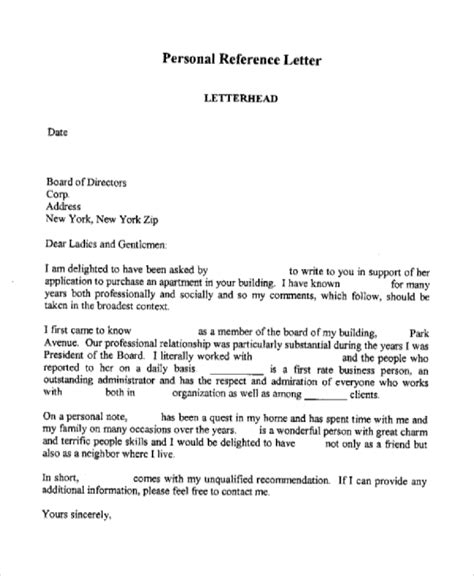 business letters sample personal recommendation sharing us templates