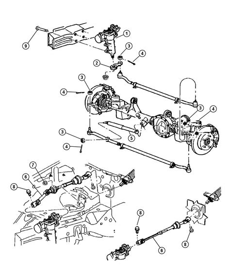 Jeep Steering Parts 2001 Jeep Grand Steering Gear Assembly