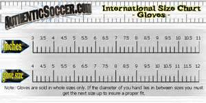 Youth football gloves size chart