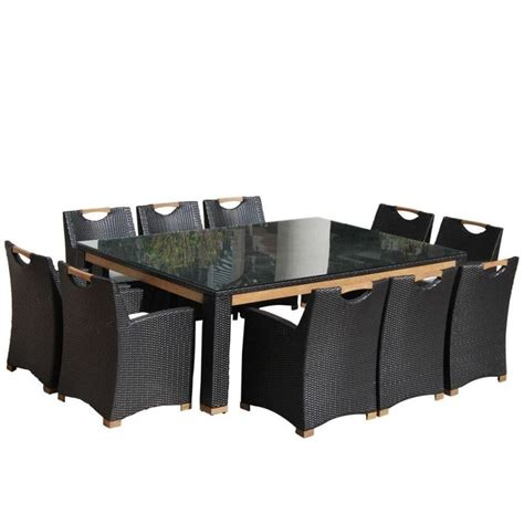 10 seat outdoor dining set freedom outdoor 10 seat wicker dining set charcoal buy