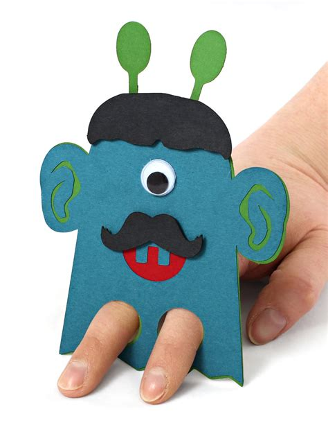 diy classroom valentines scary finger puppet with