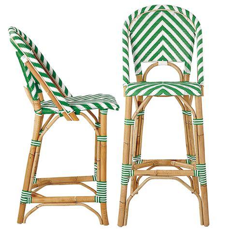 taburete la riviera chevron riviera stools kelly green serena lily home