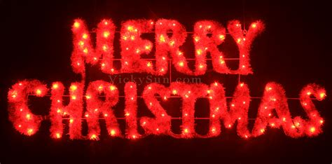 merry in lights animated 160cm led green merry sign motif