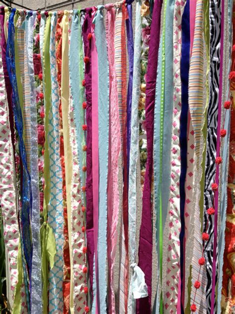 indie curtains items similar to boho gypsy fabric garland streamers