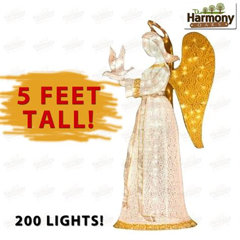 lighted outdoor christmas angels