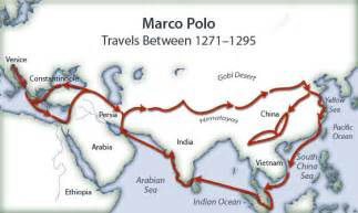 Marco Polo Route Map by American History Part 1 Settling The Americas Pre