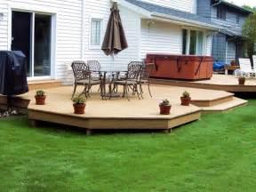 ground level patio ideas ground level deck designs deck deck