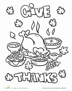 coloring page of thanksgiving dinner thanksgiving dinner worksheet education com