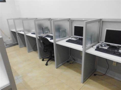 Meja Komputer Knockdown jual meja sekat kantor knockdown bentuk lurus furniture