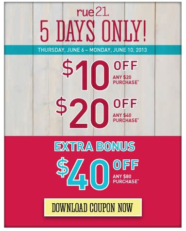 10 40 office max coupon good today only august 22 rue 21 rare 10 off 20 purchase in store coupon or up